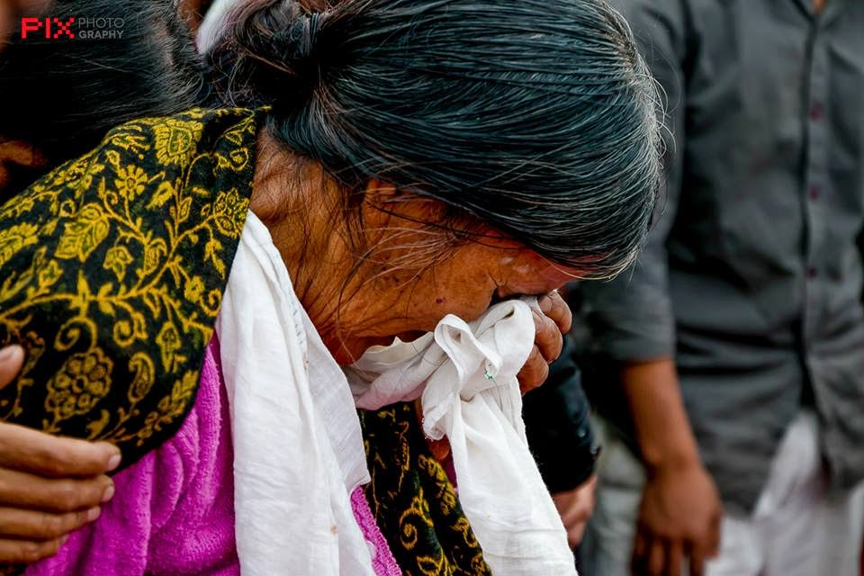 Ukhrul: Grandmother of the victim during the funeral